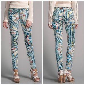RAG & BONE Legging Skinny Jean Surf Knit Pattern